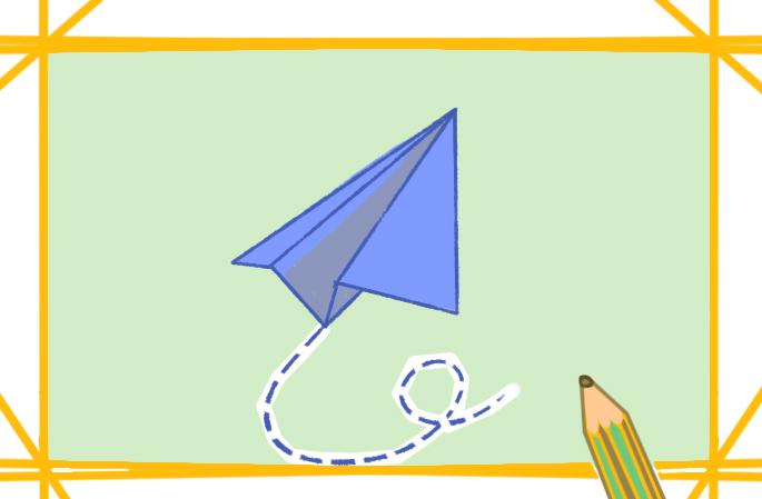 简单的纸飞机原创简笔画怎么画