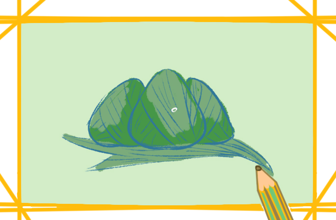 端午节节庆食物上色简笔画图片教程