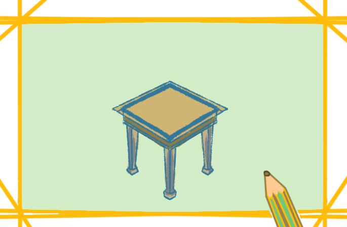简单的椅子上色简笔画要怎么画
