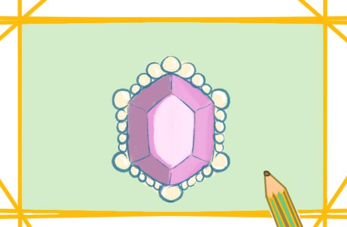 漂亮的紫宝石简笔画图片怎么画