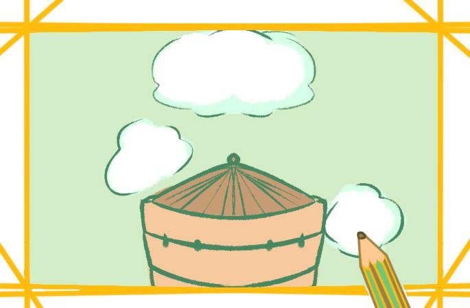 简单的笼屉简笔画图片怎么画