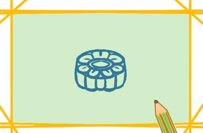 烤饼图片简笔画