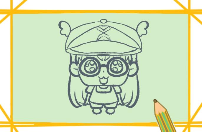 可爱的阿拉蕾简笔画图片怎么画