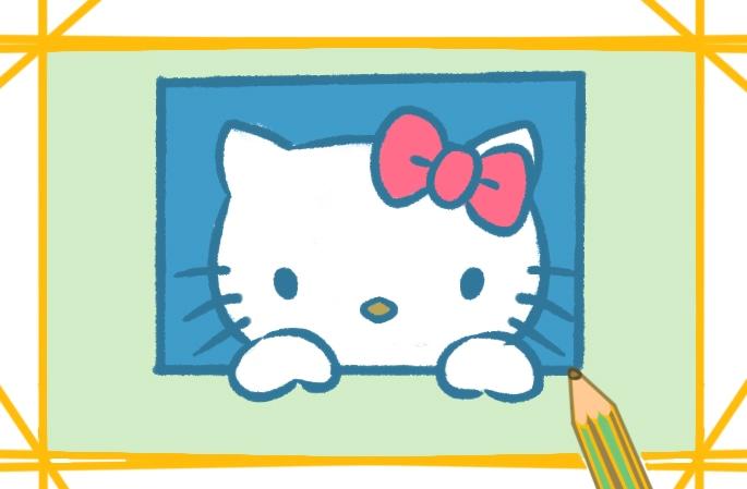 可爱的凯蒂猫简笔画图片怎么画