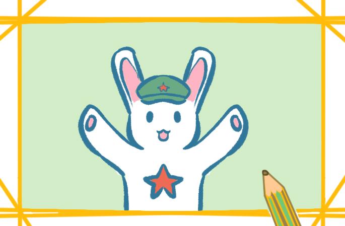 那年那兔上色簡筆畫兔子圖片教程步驟