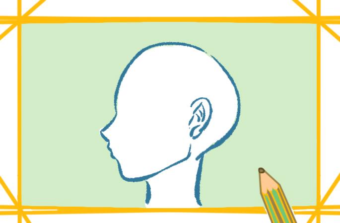 動漫的頭部側臉的圖片怎么畫