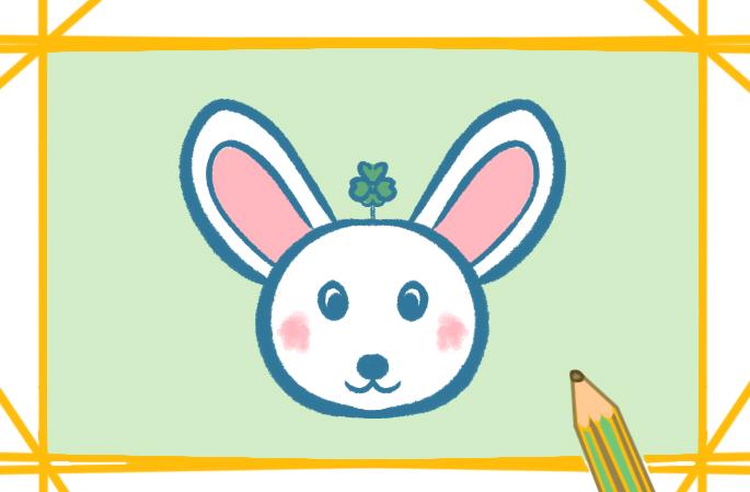 卡通兔头上色简笔画要怎么画