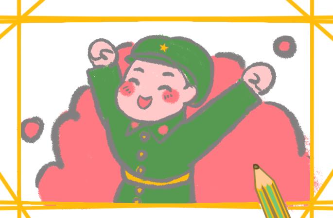 解放軍怎么畫簡單又好看簡筆畫教程