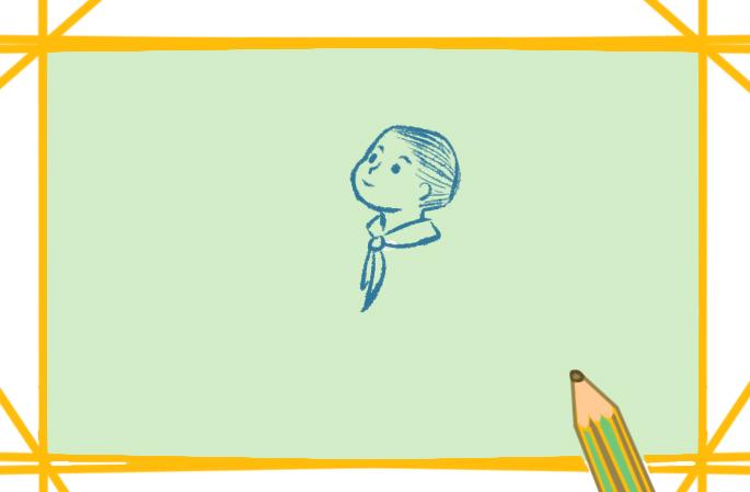 学生向国旗敬礼简笔画的图片怎么画