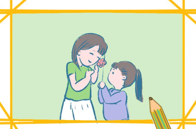 感恩老師的一幅畫的簡筆畫圖片怎么畫