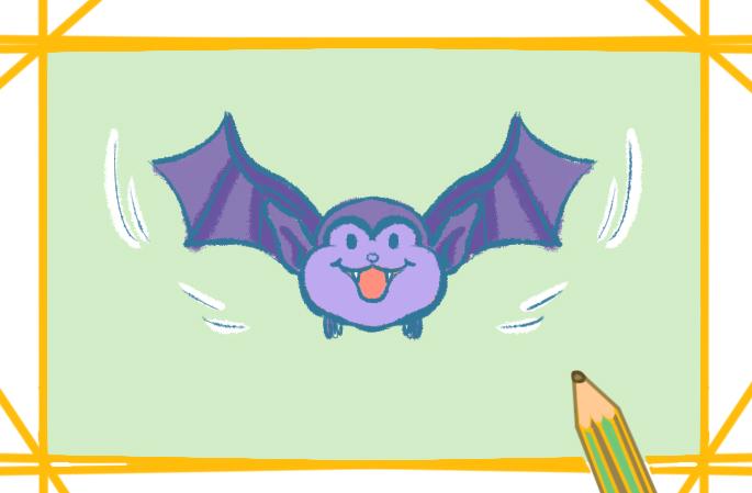蝙蝠绘画图片步骤怎么画