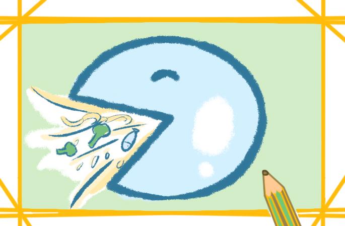节约粮食的素材简笔画怎么画