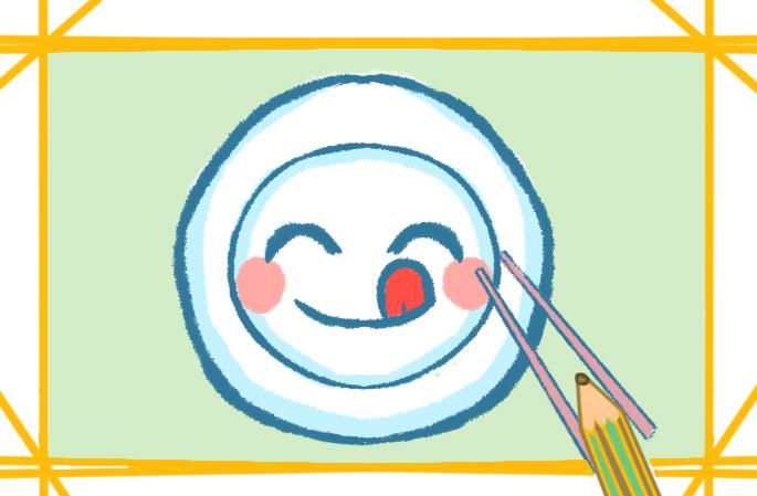 彩色的光盤行動簡筆畫厲行節約怎么畫