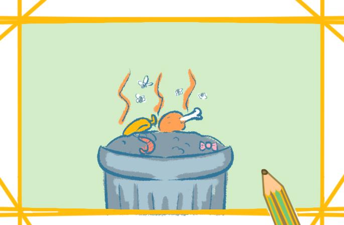 被浪費的糧食簡筆畫怎么畫